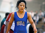 09 February 2008   U.S. wrestler, Amy Wong (Blue) competes in the Women's Freestyle event at the Dave Schultz International at the Olympic Training Center, Colorado Springs, Colorado.