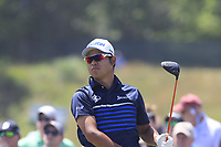 Hideki Matsuyama (JPN) tees off the 9th tee during Saturday's Round 3 of the 118th U.S. Open Championship 2018, held at Shinnecock Hills Club, Southampton, New Jersey, USA. 16th June 2018.<br /> Picture: Eoin Clarke | Golffile<br /> <br /> <br /> All photos usage must carry mandatory copyright credit (&copy; Golffile | Eoin Clarke)