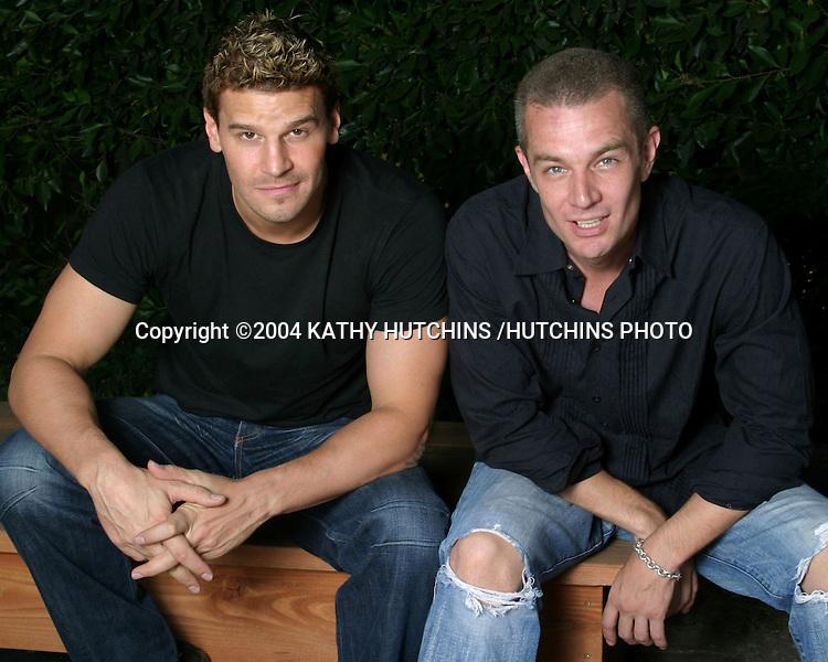 ©2004 KATHY HUTCHINS /HUTCHINS PHOTO.PRIVATE SHOOT .LOS ANGELES, CA.SEPTEMBER 24, 2004..DAVID BOREANAZ.JAMES MARSTERS