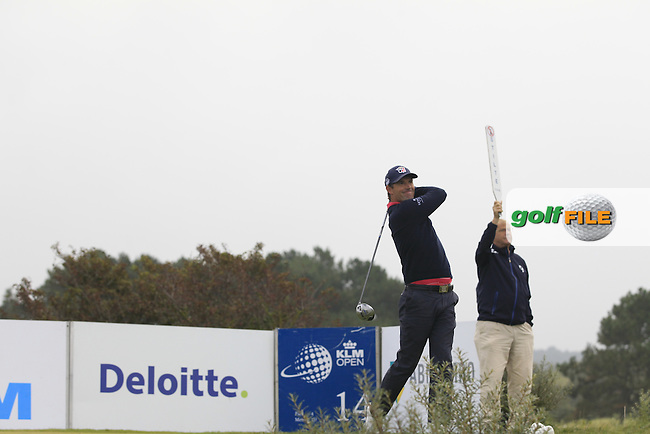 Padraig Harrington (IRL) on the 14th tee during Round 4 of the KLM Open at Kennemer Golf &amp; Country Club on Sunday 14th September 2014.<br /> Picture:  Thos Caffrey / www.golffile.ie