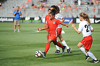 Boyds, MD - Saturday August 12, 2017: Half-time mini games during a regular season National Women's Soccer League (NWSL) match between the Washington Spirit and The Boston Breakers at Maureen Hendricks Field, Maryland SoccerPlex.