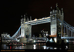 Tower Bridge, Bascule and Suspension Bridge, f/4, River Thames, London, England, UK