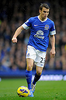 28.10.2012 Liverpool, England.  Seamus Coleman     in action during the Premier League game between Everton and Liverpool  from Goodison Park ,Liverpool