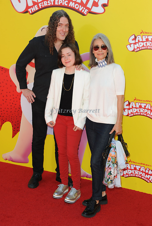Weird Al Yancovic and family arriving at the Los Angeles premiere of Captain Underpants, held at the Regency Village Theater in Westwood California on May 21, 2017