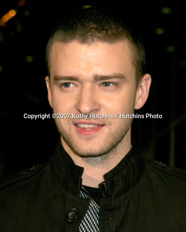 "Justin Timberlake.""Alpha Dogs"" World Premiere.Cinerama Dome Theater.Los Angeles, CA.January 1, 2007.©2007 Kathy Hutchins / Hutchins Photo...."