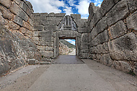 Lion Gate (1.240 B.C.) Mycenae, Greece
