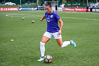 Kansas City, MO - Wednesday August 16, 2017: Ali Krieger during a regular season National Women's Soccer League (NWSL) match between FC Kansas City and the Orlando Pride at Children's Mercy Victory Field.
