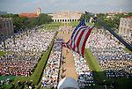 A birds-eye view of the commencement ceremony at Rice University Saturday mornging May 09,2009.(Dave Rossman/For the Chronicle)