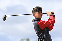Mel Deasy (Bantry Bay) on the 14th tee during the Final round in the Connacht U16 Boys Open 2018 at the Gort Golf Club, Gort, Galway, Ireland on Wednesday 8th August 2018.<br /> Picture: Thos Caffrey / Golffile<br /> <br /> All photo usage must carry mandatory copyright credit (&copy; Golffile | Thos Caffrey)