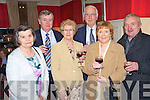 Pictured at the Heartbeat dinner in the Killarney Park Hotel on Thursday night were Kathleen O'Shea, Brendan McCarthy, Sue and Michael McDonough, Anne and Michael O'Donoghue.