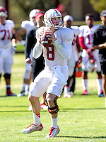 STANFORD, CA - MARCH 7, 2014--Stanford quarter back Kevin Hogan,  during Open Practices at Stanford University.