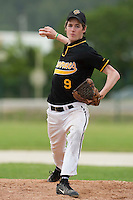 21 May 2009: Baptiste Argillet of Clermont-Ferrand pitches against Savigny during the 2009 challenge de France, a tournament with the best French baseball teams - all eight elite league clubs - to determine a spot in the European Cup next year, at Montpellier, France.