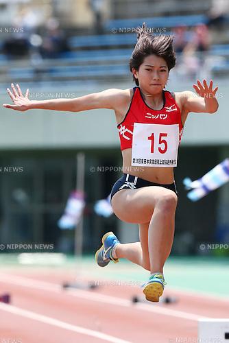 Kaede Miyasaka,<br /> MAY 21, 2016 - Athletics :<br /> The 58th East Japan Industrial Athletics Championship <br /> Women's Triple Jump Final<br /> at Kumagaya Sports Culture Park Athletics Stadium, Saitama, Japan. <br /> (Photo by Shingo Ito/AFLO SPORT)