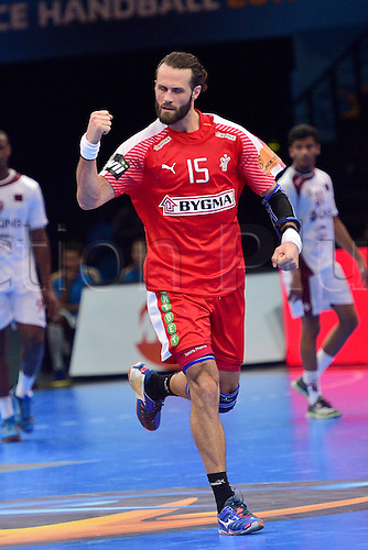 January 20th 2017; Nantes, France, IHF World handball Championships; Denmark versus Qatar; Jesper NODDESBO (Denmark)  ; Denmark won 32-29