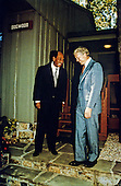 President Anwar al-Sadat of Egypt, left, and United States President Jimmy Carter outside Dogwood Cabin at Camp David, the US presidential retreat near Thurmont, Maryland prior to the first meeting of their summit to discuss a peace treaty between Egypt and Israel on September 6, 1978..Credit: White House via CNP