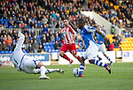St Johnstone v Kilmarnock....20.10.12      SPL.Nigel Hasselbaink rounds Cammy Bell to make it 2-0.Picture by Graeme Hart..Copyright Perthshire Picture Agency.Tel: 01738 623350  Mobile: 07990 594431