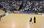 Impromptu halftime entertainment during the 2019 Schick AA Boys' Secondary Schools Basketball National Championship final between St Kentigern and Rosmini College at the Central Energy Trust Arena in Palmerston North, New Zealand on Saturday, 5 October 2019. Photo: Dave Lintott / lintottphoto.co.nz