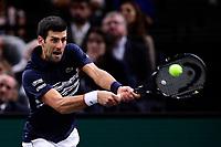 3rd November 2019, AccorHotels Arena, Bercy, Paris, France; Rolex Paris masters Tennis tournament, finals day;  Novak Djokovic (Srb)