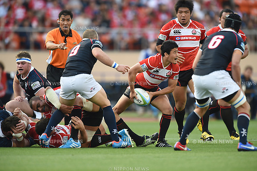 Atsushi Hiwasa (JPN), MAY 25, 2014 - Rugby : Asian 5 Nations Rugby match between Japan 49-8 Hong Kong at National Stadium, Tokyo, Japan. (Photo by Hitoshi Mochizuki/AFLO)