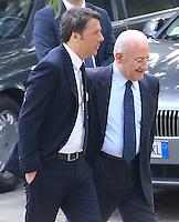 Vincenzo De Luca presidente della regione Campania &egrave; stato sospeso dal suo incarico per effetto legge severino<br /> nella foto con Matteo Renzi
