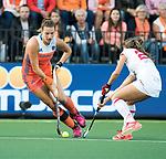 AMSTELVEEN -  Frederique Matla (Ned)  tijdens Nederland - Spanje (dames) bij de Rabo EuroHockey Championships 2017.  COPYRIGHT KOEN SUYK