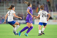 Orlando, FL - Saturday June 03, 2017: Brooke Elby, Monica, Angela Salem during a regular season National Women's Soccer League (NWSL) match between the Orlando Pride and the Boston Breakers at Orlando City Stadium.