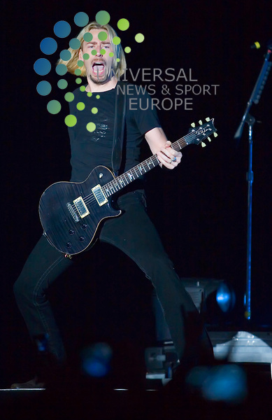 Chad Kroeger and Nickelback rock a capacity Hall 4 at the Glasgow SECC..Picture:Peter Kaminski/Universal News and Sport (Scotland)