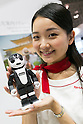 An exhibitor holds a smartphone RoBoHoN at CEATEC Japan 2016 on October 3, 2016, Tokyo, Japan. CEATEC Japan is a cutting-edge IT and electronics exhibition. This year 648 companies and organisations are taking part from 24 different countries and the show is open to the public from October 4 to 7. (Photo by Rodrigo Reyes Marin/AFLO)