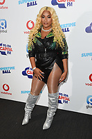 Stefflon Don in the press room for the Capital Summertime Ball 2018 at Wembley Arena, London, UK. <br /> 09 June  2018<br /> Picture: Steve Vas/Featureflash/SilverHub 0208 004 5359 sales@silverhubmedia.com