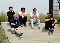Pictured TOP L-R: Matt Grimes, Jack Cork, Jay Fulton, Lukasz Fabianski, David Cornell (FRONT) Thursday 21 May 2015<br />
