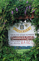 Europe/France/Aquitaine/33/Gironde/Sauternais/Env de Bommes: Enseigne d'une propriété