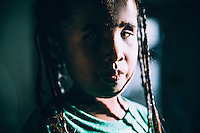 Cathy Titus, 9, was born blind and her legs paralysed. Her parents blame the the American nuclear program for the disability of their daughter. After several operations at a hospital in Hawaii, paid for by the Government of the Marshall Islands, she is now able to walk.