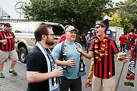 ATLANTA, Georgia - August 27: Fans prior to the 2019 U.S. Open Cup Final between Atlanta United and Minnesota United at Mercedes-Benz Stadium on August 27, 2019 in Atlanta, Georgia.