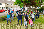 The residents of Brendan's Park enjoying a cuppa in the park on Thursday.