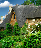 Thatched houses in Great Tew, The Cotswolds, England