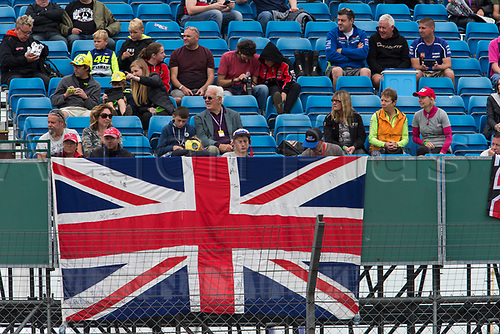 26th August 2017, Silverstone Circuit, Northamptonshire, England; British MotoGP, Qualifying; Fans show their support for the 4 British riders in the race.