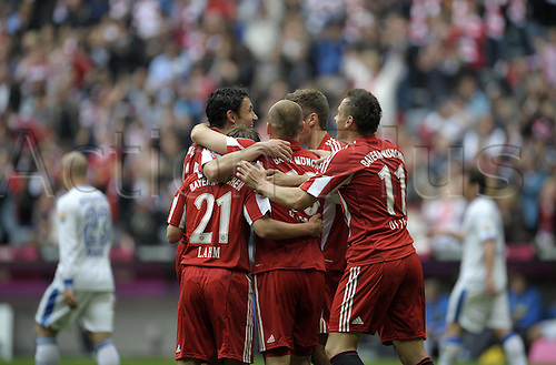 01/05/2010 Bayern Munich all but wrap up the Bundesliga title after a 3-1 home win over Vfl Bochum..Treble-chasing Bayern are three points clear at the table's summit and have scored 17 more goals than second-placed Schalke. A day of celebration.
