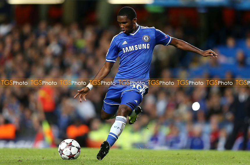 Samuel Eto'o of Chelsea - Chelsea vs FC Basel, Champions League Group Stage at Stamford Bridge, Chelsea - 18/09/13 - MANDATORY CREDIT: Rob Newell/TGSPHOTO - Self billing applies where appropriate - 0845 094 6026 - contact@tgsphoto.co.uk - NO UNPAID USE