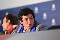 Rory McIlroy at the press conference after the final day's play at the Ryder Cup 2012, Medinah Country Club,Medinah, Illinois,USA 30/09/2012.Picture: Fran Caffrey/www.golffile.ie.