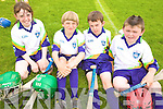 HURLING: Learning new hurling skills at the VHI GAA Cu?l Camp in Killorglin on Thursday last were, l-r: Molly Coffey, Fiachra Clifford, Conor Hickey, Patrick Clifford.