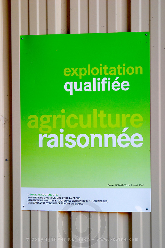 Property that is qualified as a Agriculture Raisonnee, an organic type of agriculture. Chateau Rives-Blanques. Limoux. Languedoc. France. Europe.