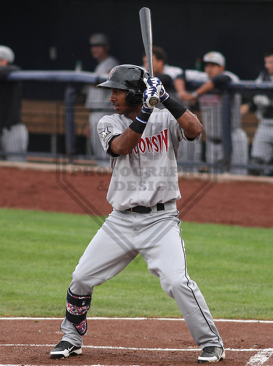 DAVENPORT - May 2015: Wisconsin Timber Rattlers infielder Francisco Castillo (23) during a Midwest League game against the Quad Cities River Bandits on May 8th, 2015 at Modern Woodmen Park in Davenport, Iowa.  Quad Cities defeated Wisconsin 11-6.  (Brad Krause/Krause Sports Photography)