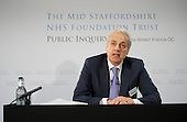 Robert Francis QC releases his Public Inquiry Report into failings at the  Mid-Staffordshire NHS Foundation Trust.  Westminster, London.