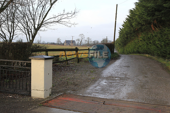 Shane McEntee T.D. residence Lobinstown, Co.Meath, Friday 21st December 2012 (Photo Eoin Clarke/www.newsfile.ie)