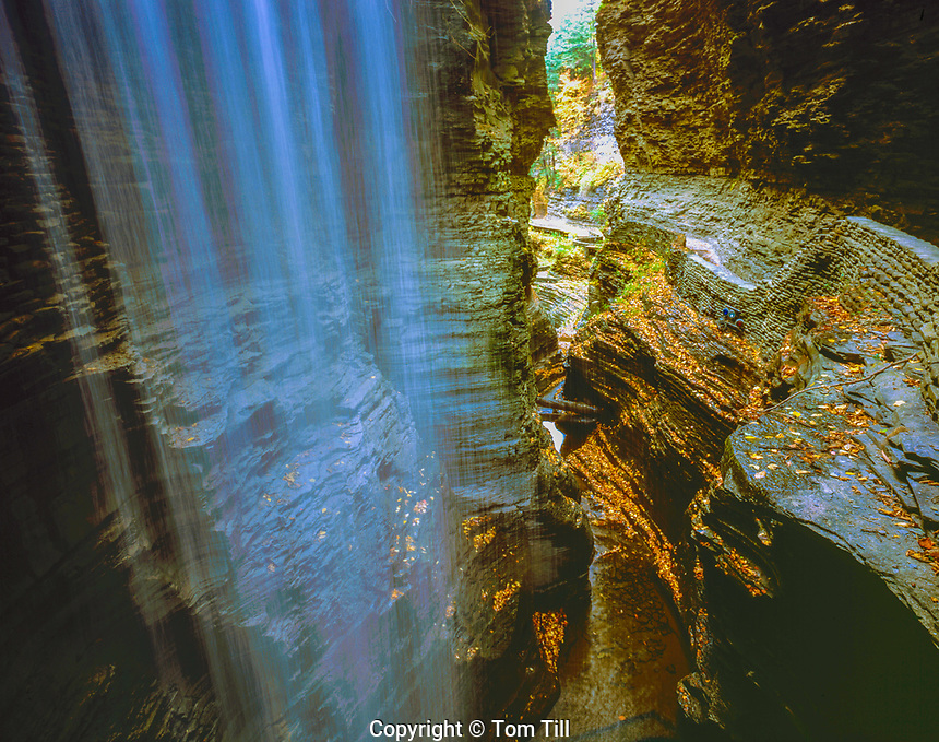 Falls in Watkins Glen, Watkins Glen State Park, New York , Finger Lakes Region Gorges along Finger Lake plateaus