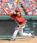 Yu Darvish (Rangers),<br /> SEPTEMBER 29, 2013 - MLB :<br /> Yu Darvish of the Texas Rangers pitches during the Major League Baseball game against the Los Angeles Angels at Rangers Ballpark in Arlington in Arlington, Texas, United States. (Photo by AFLO)
