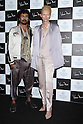 Actress Tilda Swinton and designer Haider Ackermann attend the presscall during the HANAE MORI designed by Yu Amatsu show as part of Mercedes Benz Fashion Week TOKYO 2015 S/S at Shibuya Hikarie on October 13, 2014 in Tokyo, Japan.