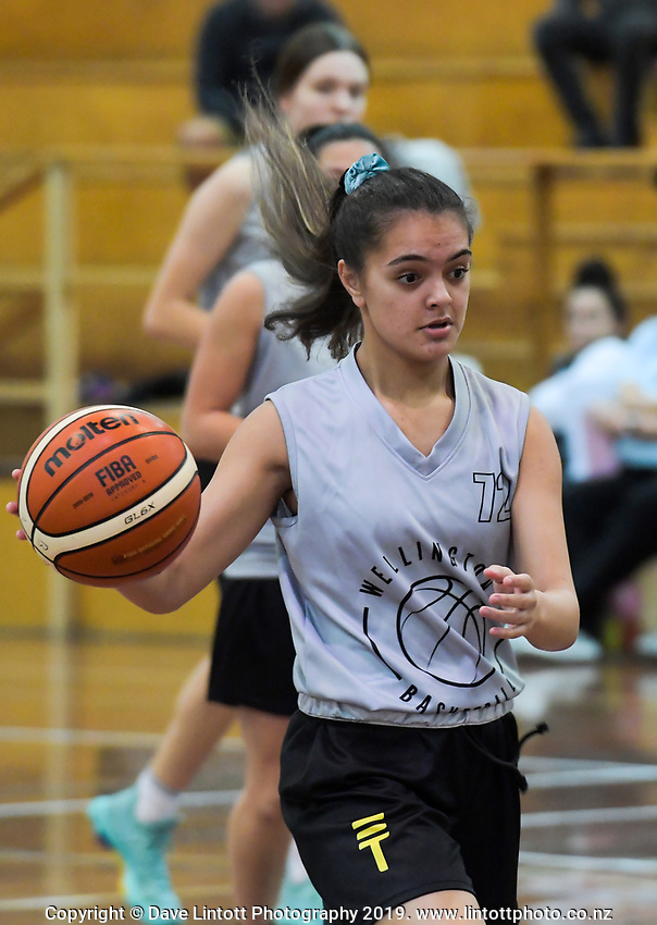Action from the 2019 Women's Basketball League division two match between Wellington and Northland Phoenix at Cowles Stadium in Christchurch, New Zealand on Sunday, 12 May 2019. Photo: Dave Lintott / lintottphoto.co.nz