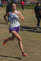 Eureka senior Hannah Long flies over the course on her way to victory in the Class 4 girls 5k in 17:38 at the 2014 MSHSAA State Cross Country Championship in Jefferson City, MO. Saturday, November 8.