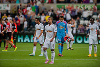 Saturday 20th September 2014  Pictured:  Wayne Routledge leaves the field<br /> Re: Barclays Premier League Swansea City v Southampton  at the Liberty Stadium, Swansea, Wales,UK